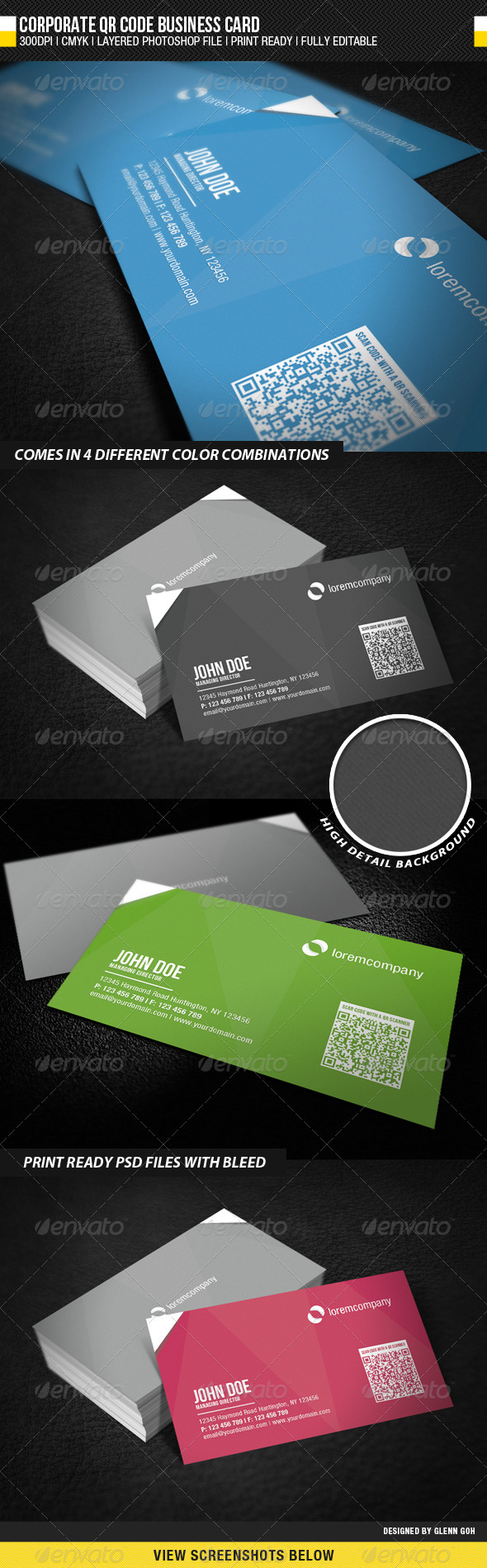 GraphicRiver Corporate QR Code Business Card 1954855