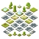 Set of Isometric City Elements