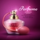 Perfume Product Vector Background