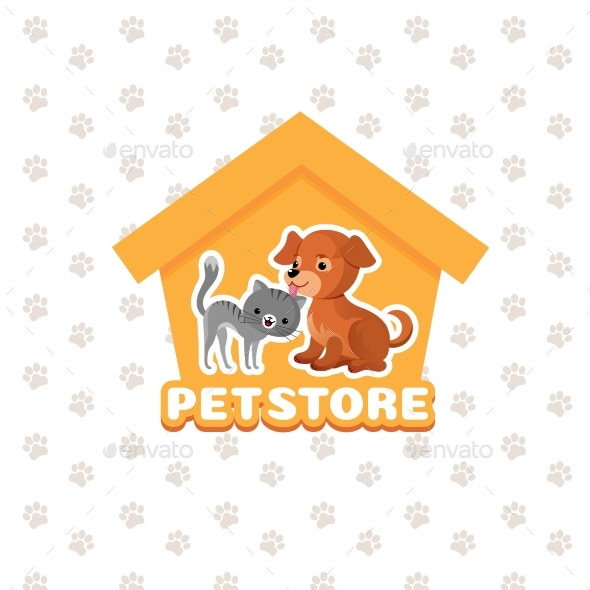 Pet Store Vector Background