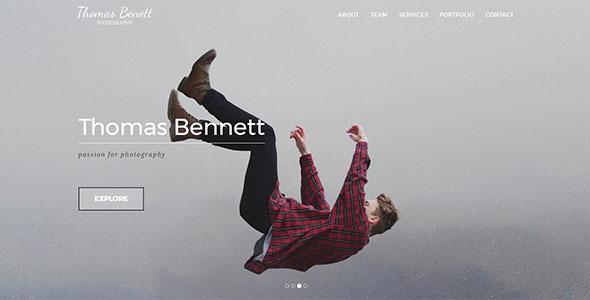 Image of Thomas Benett - Creative Photography Template