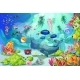 Cartoon Marine Underwater Landscape Template