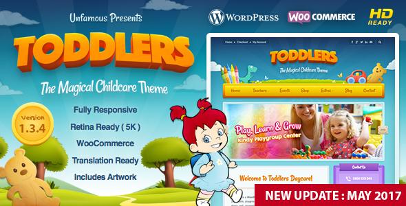 Toddlers - Kids, Child Care & Playgroup WordPress Theme