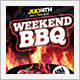Weekend Barbecue BBQ Party Flyer