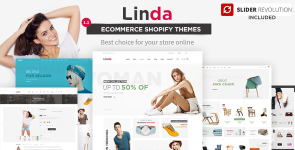 Linda – Multi-objective Shopify Theme with Drag &amp Drop section builder (Shopify)