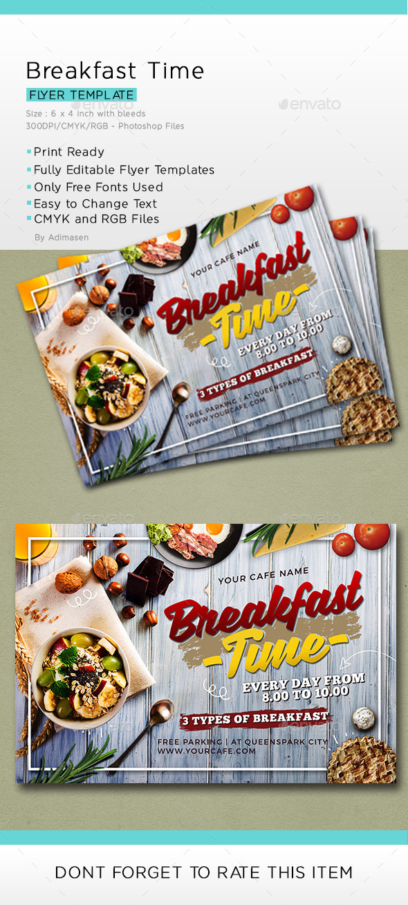 Continental Breakfast Flyer Templates From Graphicriver