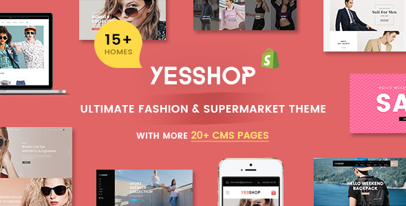 Image of YESSHOP | Responsive Multi-Purpose Shopify Theme -  Fashion,Clothing,Minimal,Glasses,Baby
