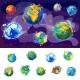 Cartoon Earth Globes Concept