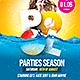 Pool Parties Season Flyer