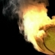 Burning Tennis Ball