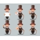 Victorian Gentleman Business Cartoon Characters