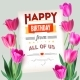 Happy Birthday Vintage Text Poster Composition