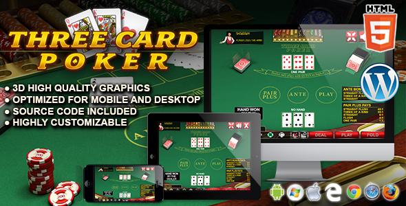 Three Card Poker - HTML5 Casino Game