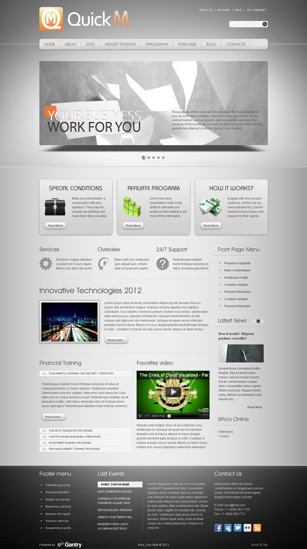QuickM - WordPress Template