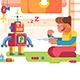 A Boy Control Robot