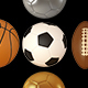 3D Sports Balls in Stylish Olympic Colors