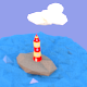 low poly sea