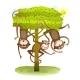 Funny Monkeys Friends on the Tree Animal Cartoon