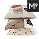 3 Square Pillows Generator Mock-up