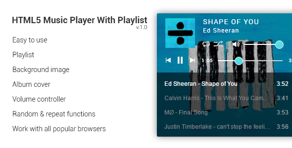 Download HTML5 Music Player With Playlist