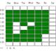 Weekly Schedule Board / Hours Selector