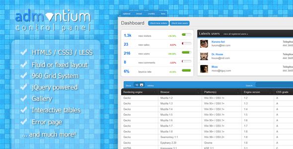 Admantium - Premium Admin Panel