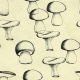 Hand Drawn Seamless Pattern with Mushrooms