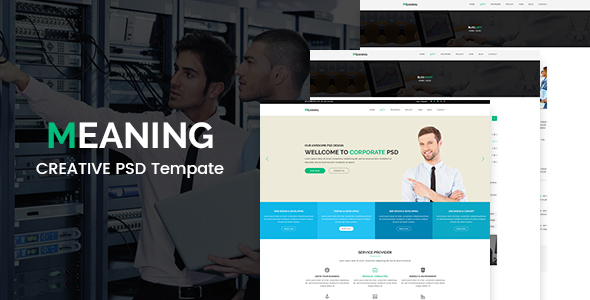 Meaning - Corporate PSD Template