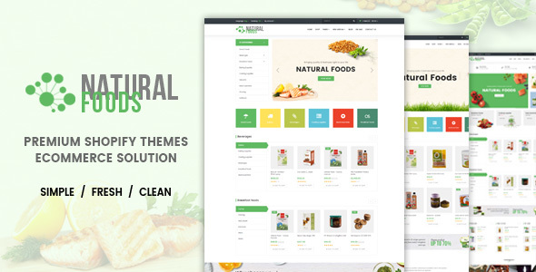 Natural Food - Responsive Drag & Drop Shopify Theme