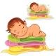 Baby Sleeping on a Pile