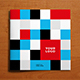 Square Colorful Squares Pattern Trifold