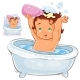 Small Child Sitting in Bath