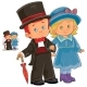 Illustration of a Little Boy and Girl