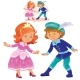 Little Boy and Girl in Costumes