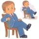 Boy Dressed in Retro Suit