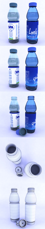 3DOcean Plastic bottles 19980885
