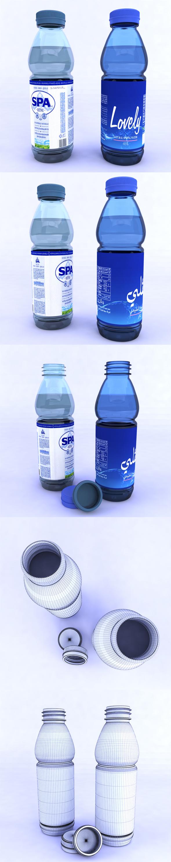 Plastic bottles - 3DOcean Item for Sale
