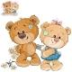 Teddy Bear Hides Bouquet Behind Back