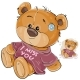 Vector Illustration of a Brown Teddy Bear Dressed