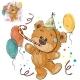 Brown Birthday Teddy Bear
