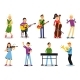 Various Musician Characters in Flat Style Vector