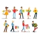 Shopping People Vector Concepts Flat Design