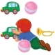 Boy Lies on His Stomach and Rolls a Car