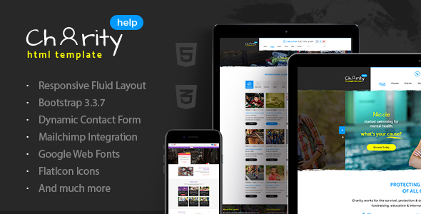 Charity Help - NGO & Charity Fundraising HTML Template