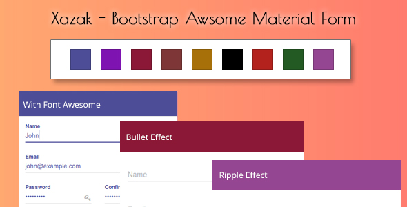 Xazak - Bootstrap Awsome Material Forms - CodeCanyon Item for Sale
