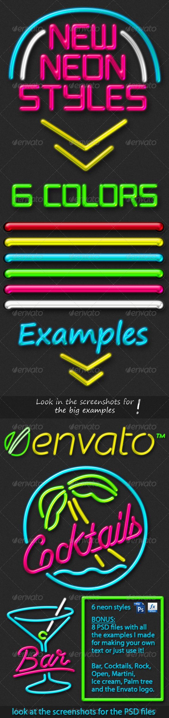 GraphicRiver New Neon Styles 227887