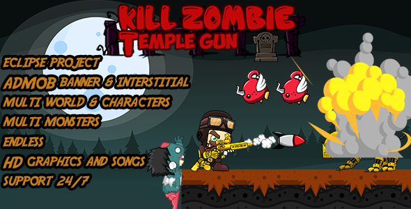 CodeCanyon Kill Zombie- Temple Gun Multi world Eclipse & BB2 project-Android Game Template With Admob 19982200