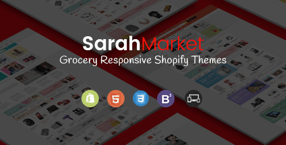 SarahMarket – Sectioned Responsive Shopify Theme for Supermarket, Large store, Groceries, Aliexpress