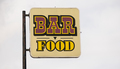 Rusted Metal Faded Sign Advertising Bar Food