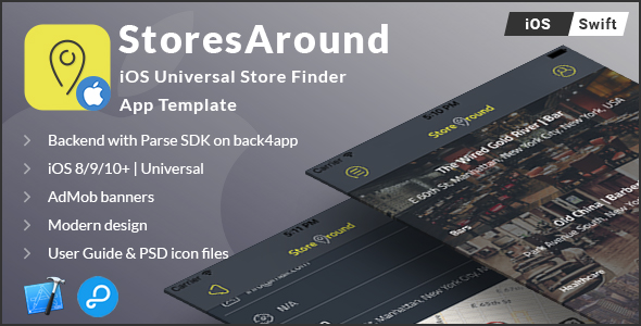 StoresAround | iOS Universal Store Finder App Template (Swift)